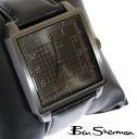 ベンシャーマン Ben Sherman ブラック フェイス 腕時計 メンズ 【送料無料】 モッズ ファッション 千鳥格子 ドッグトゥース Dogtooth Black 本革 レザー ベルト Leather 腕 時計 アナログ ウォッチ UK モッズ r832 プレゼント ギフト