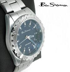 BenShermanシャローブルーフェイスダイバーズウォッチ腕時計【送料無料】メンズベンシャーマン2014新作モッズファッションタキメーターダイバーズ防水ステンレススティールベルトStainlessSteel腕時計アナログウォッチUKモッズr959
