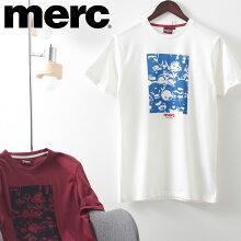 メルクロンドンメンズTシャツスクーターヘッドランプTシャツMercLondon21SS新作2色バーガンディオフホワイトレトロギフトトラッド