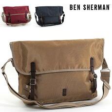 ベンシャーマンBenShermanメッセンジャーバッグショルダーバッグナイロン49x32x14cm3色マルーンサンドネイビーメンズレディースプレゼントギフト
