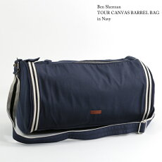 ベンシャーマンBenShermanバレルバッグドラムバッグツアーキャンバス46x27x19cm3色大きい大容量ブラックネイビーオートミールメンズレディースプレゼントギフト