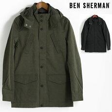 ベンシャーマンBenShermanモッズパーカモッズコートジャケット17AW新作2色ダークグリーンブラックテフロン加工メンズ上着アウタープレゼントギフト