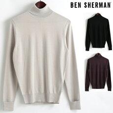 ベンシャーマンBenShermanセータータートルネックハイネック17AW新作3色シルバーグレーブラックワインメンズ上着アウタープレゼントギフト