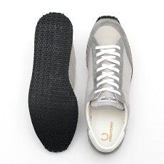 フレッドペリーFredPerryスニーカーシューズヴィンソンナイロンツイル17AW新作グレー軽量日本製メンズ靴プレゼントギフト