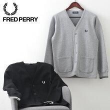 フレッドペリー秋冬メンズカーディガンカットソー2020AW新作FredPerry2色ブラックグレー正規販売店ギフト