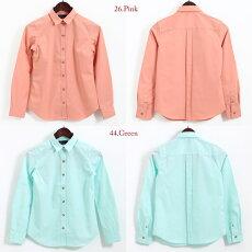 フレッドペリーレディースウーブンシャツ無地プレーン長袖シャツブラウスレギュラーシャツFredPerry18SS新作2色ピンクグリーンプレゼントギフト