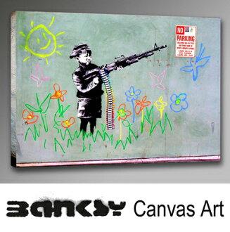 "Banksy 牆藝術藝術面板框架藝術 BANKSY 帆布 Banksy""孩子用蠟筆機""30.5 x 21.0 繪畫繪畫藝術畫布畫布藝術木倫敦塗鴉藝術塗鴉 bccm30"