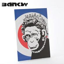 "BANKSYCANVASARTキャンバスアートファブリックパネル""MonkeyQueenRoundel""60cm×40cmバンクシーギフトトラッド"