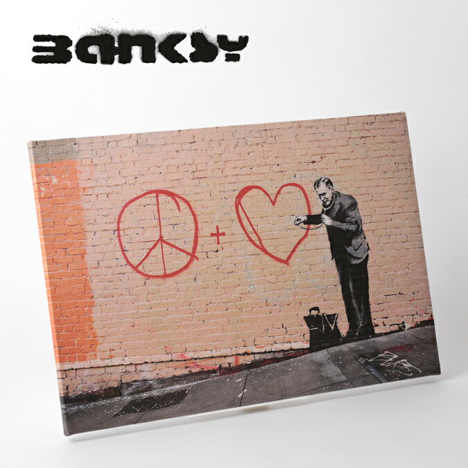 BANKSY CANVAS ART キャンバスアートファブリックパネル