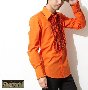 Chenaski フリルシャツ シャツ メンズ 衣装 長袖シャツ モッズ プレゼント ギフト