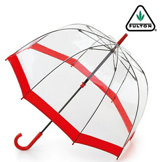 Fulton umbrella umbrella birdcage FULTON Chief umbrella United Kingdom Royal warrant new clear transparent Red Red Ladies BirdCage Umbrella umbrella birdcage Fulton fashion United Kingdom London fultonl041red