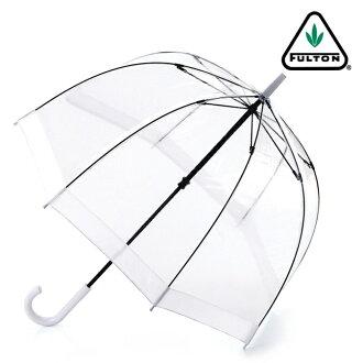 FULTON Fulton umbrella umbrella bird cage length umbrella United Kingdom Royal purveyors new clear transparent white White ladies BirdCage Umbrella umbrella birdcage mod fashion United Kingdom London fultonl041white