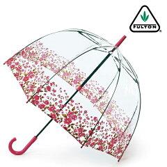 フルトン 傘 レディース バードケージ FULTON 長傘 女性用 透明 かさ 鳥かご おしゃれ 花柄 ビニール傘