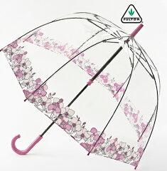 フルトン 傘 バードケージ オーキッドフェア 長傘 花柄 レディース かさ