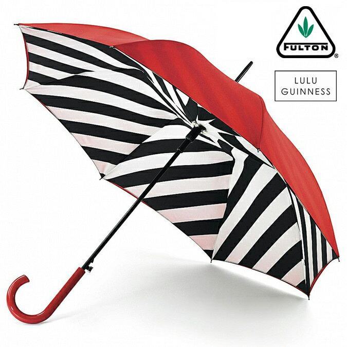 フルトン x ルルギネス 傘 Lulu Guinness x FULTON コラボ ブルームズベリー レディース 長傘 かさ ジャンプ ワンタッチ プレゼント ギフト
