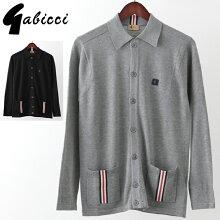 Gabicciメンズカーディガンガビッチボタンスルークラシック19SS新作レトロ2色ブラックグレーモッズファッションプレゼントギフト