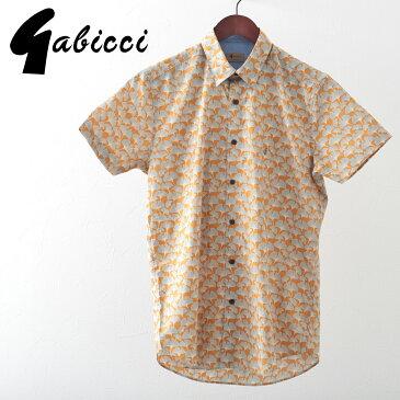 Gabicci メンズ 半袖シャツ イチョウ ガビッチ 20SS 新作 フレア レトロ モッズファッション ギフト
