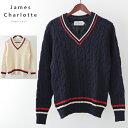 JAMES CHARLOTTE チルデンニットセーター ジェ...