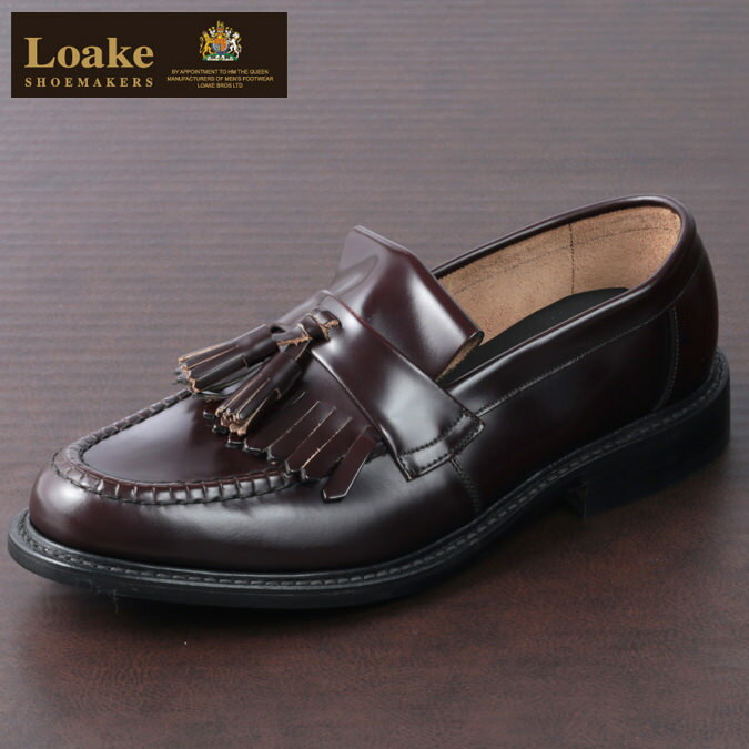 Loake England メンズ タッセルローファー ローク イングランド 革靴 ビジネス ローファー ビジネス EX 2E オックスブラッド ブライトン 靴 モッズ レディース プレゼント ギフト画像