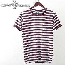 MadcapEnglandTシャツストライプ20SS新作ジンファンデルホワイトマッドキャップレッドメンズプレゼントギフト