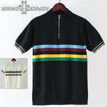 MadcapEnglandメンズポロシャツポロ19SS新作サイクリングポロブラックホワイトレインボーレトロマッドキャッププレゼントギフトモッズファッションホワイトデー