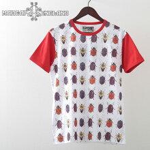 MadcapEnglandTシャツ20SS新作BeetleコガネムシWhiteマッドキャップレッドメンズプレゼントギフト