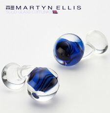MartynEllisカフスカフスボタンカフリンクスソリッドグラスマーティンエリスガラスカフスカフリンクス