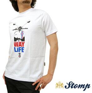 ストンプ Stomp Tシャツストンプ Stomp Tシャツ T シャツ Way Of Life ホワイト White モッズス...
