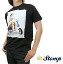 ストンプ Stomp Tシャツ T シャツ Scooter Pin Up ブラック Black モッズスクーター ロゴ コットン UK モッズ scm051black *xs *s *l プレゼント ギフト