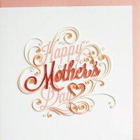 "[953-921]QuillingCardLLCグリーティングカード""HappyMother'sDayletter""ペーパークイリング母の日"