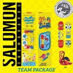 15-16-17SALOMONTEAMPACKAGE/サロモンチームパッケージ/スポンジボブ/SPONGEBOB/SALOMONスノーボード/サロモンスノーボード/ジュニアスノーボードセット/KIDS/YOUTH/子供/子ども/こども用/90/100