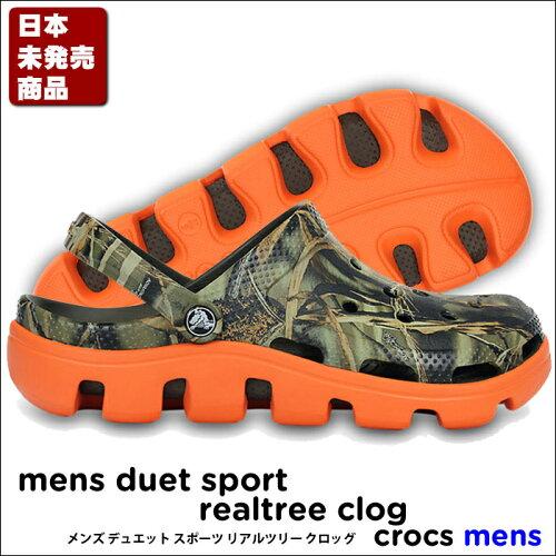 crocs Mens Duet Sport Realtree Clog/メンズ デュエット スポーツ リアル...