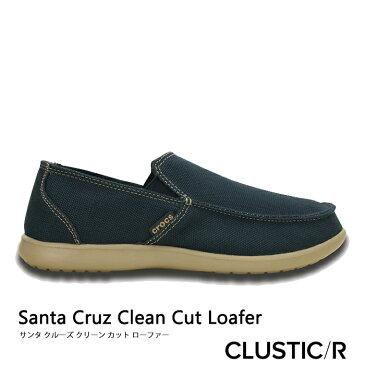 ・クロックス《メンズ》サンタ クルーズ クリーン カット ローファー/ネイビーxタンブルウィード/ CROCS/Santa Cruz Clean Cut Loafer/NavyxTumbleweed #