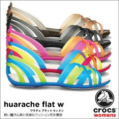 【送料無料】【返品交換無料】crocs【クロックス】 Huarache Flat W/ワラチェ フラット ウィメ...