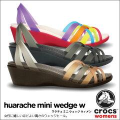 【送料無料】【返品交換無料】crocs【クロックス】 Huarache Mini Wedge W/ワラチェ ミニ ウェ...
