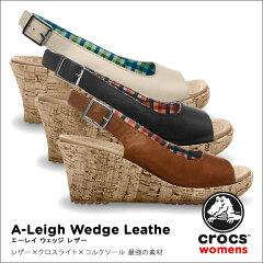 【送料無料】【返品交換無料】crocs【クロックス】 A-Leigh Wedge Leather/エイ レイ ウェッジ...