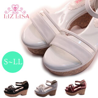 【LIZLISA(リズリサ)】【サンダル】女性らしさ溢れるクリアサンダル歩きやすいサンダルレディースサンダルlz1970