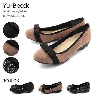 【Yu-Becck(ユービック)】【パンプス】清楚な定番アイテム☆ガーリーパンプス痛くない履きやすい44-9394