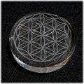 ヒマラヤ水晶プレート(フラワー・オブ・ライフ)神聖幾何学模様