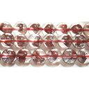 ◆天然石ビーズ 一粒売り◆   レッドファントム水晶丸玉8mmAA