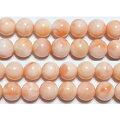 天然ピンク珊瑚丸玉8mm(高知県産)AA