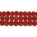 クーポン対象  カーネリアン薔薇10mmB