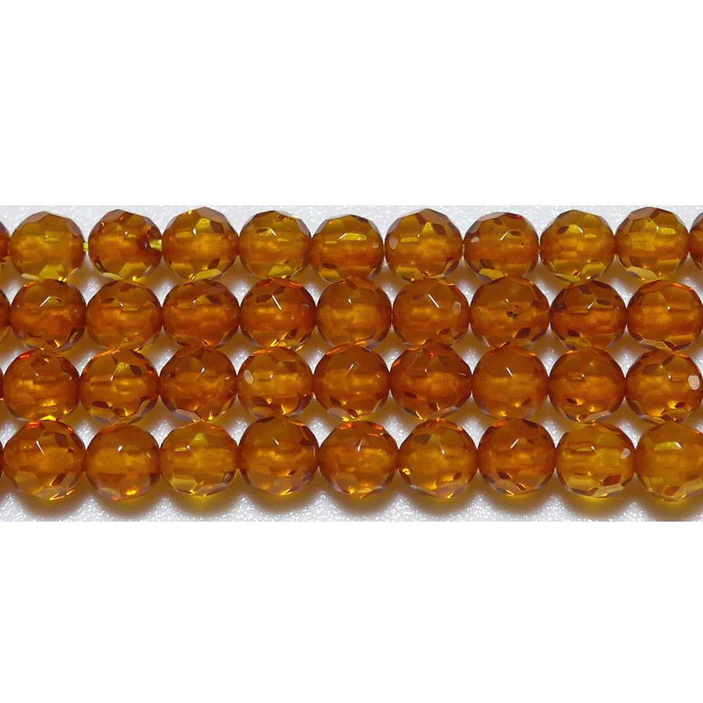 アンバー ミラーボール 4mm A  ※ 天然石 天然石ビーズ パワーストーン 1粒売り バラ売り 1玉販売 【クーポン対象】【39ショップ】