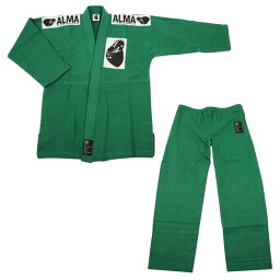 ALMA アルマ レギュラーキモノ 国産柔術衣 M00 緑 上下 JU1-M00-GR「他の商品と同梱不可/北海道、沖縄、離島別途送料」