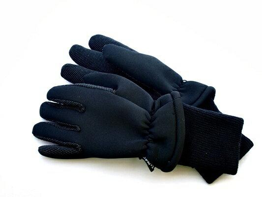 AH HUNTER 軽量ウィンターグローブ ブラック 袖付き 防寒3Mシンサレート×クロロプレンゴム AHG151 【NFR店】画像