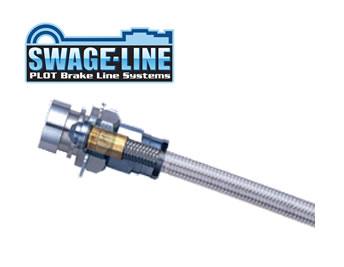 SWAGE-LINE スウェッジライン ブレーキホース ステンレス クリアホース コペン L880K 品番:SW2502
