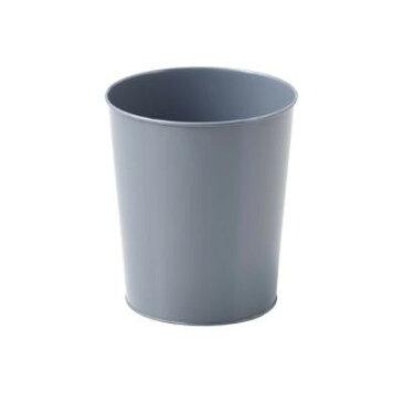 ブリキ ごみ箱 グレー 10-63GY「他の商品と同梱不可/北海道、沖縄、離島別途送料」