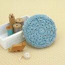 オリムパス 毛糸で編む編み付けファスナーポーチキット フラワーポーチ(...