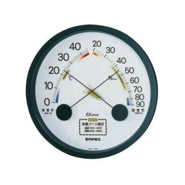 EMPEX(エンペックス気象計) エスパス温・湿度計 ブラック TM-2332「他の商品と同梱不可/北海道、沖縄、離島別途送料」