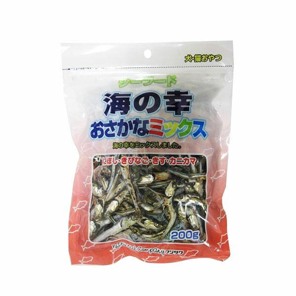 フジサワ 国産 犬猫用 海の幸おさかなミックス 200g×10袋セット「他の商品と同梱不可」